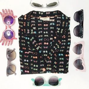 ANTHRO Danielle Kroll Carabel Silk Blouse